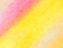 Pink and Yellow Blended Watercolor Paint Texture Royalty Free Stock Photography