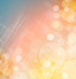 Pink yellow blue bokeh background Royalty Free Stock Image