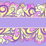Pink-yellow Border Stock Photos
