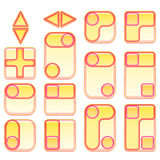 Pink and Yellow Buttons Set Royalty Free Stock Photo
