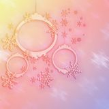 Pink and yellow Christmas Backgrounds. Stars New Year and Christmas Backgrounds Stock Photos