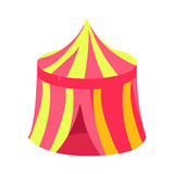 Pink And Yellow Circus Kiosk Canopy, Fairy Tale Candy Land Fair Landscaping Element In Childish Colorful Design Isolated Stock Photo