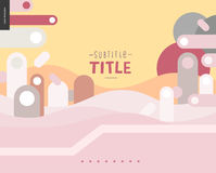 Pink and yellow design landscape template Royalty Free Stock Image