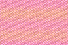 Pink yellow dotted halftone  background. Horizontal gradient halftone banner template. Stock Image