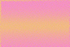 Pink yellow dotted halftone  background. Horizontal striped halftone banner template. Stock Photos