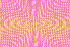 Pink yellow dotted halftone  background. Horizontal striped halftone banner template. Stock Photography