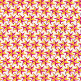 Pink yellow flower pattern on white background Royalty Free Stock Photos