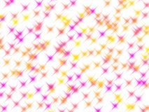 Pink and yellow glitter stars on white Royalty Free Stock Photos