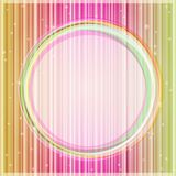 Pink Yellow Glowing Card with Light Round Label Royalty Free Stock Photography