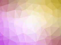Pink yellow gradient polygon shaped background.  Stock Photography