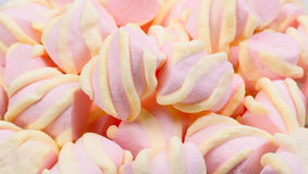 Pink and yellow Marshmallow Stock Image