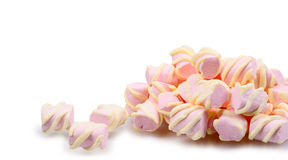 Pink and yellow Marshmallow Royalty Free Stock Photography
