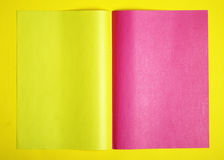 Pink and yellow page Royalty Free Stock Photo