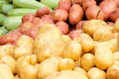Pink and yellow potato Stock Image