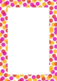 Pink yellow red circle frame Stock Photography