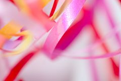 Pink and yellow ribbons Royalty Free Stock Image