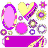 Pink and yellow romantic graphics Stock Image