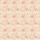 Pink and yellow roses floral repeat background stock image