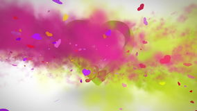 Pink and yellow smoke with valentines message. Digital animation of Pink and yellow smoke with valentines message stock footage