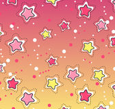 Pink, yellow stars pattern. Stock Images