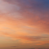 Pink and yellow sunset sky in summer. Evening Stock Image