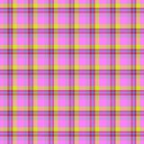 Pink and yellow table-cloth seamless texture stock illustration