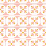 Pink an yellow tile design royalty free illustration
