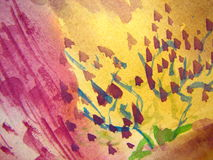 Pink and Yellow Watercolor Royalty Free Stock Photography
