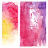 Pink yellow watercolor background Royalty Free Stock Photography