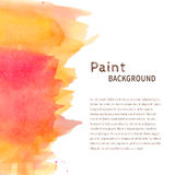 Pink yellow watercolor paint background Royalty Free Stock Photos