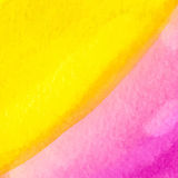 Pink and yellow watercolor squarer background Stock Photo