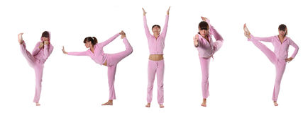 Pink yoga Royalty Free Stock Photography