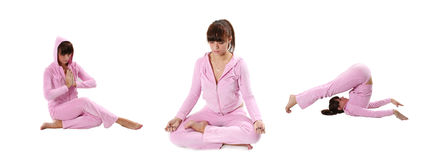 Pink yoga Royalty Free Stock Photo