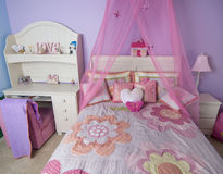 Pink young and stylish bedroom Royalty Free Stock Photography