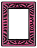 Pink Zebra Frame Royalty Free Stock Images