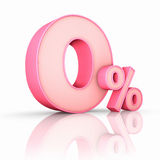 Pink Zero Percent Royalty Free Stock Images
