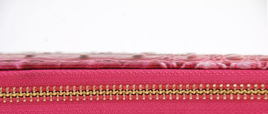 Pink zipper. Pic of pink zipper,close up Royalty Free Stock Images