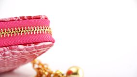 Pink zipper Stock Photography