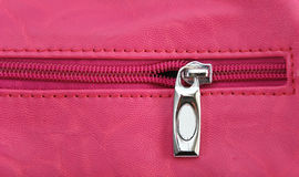 Pink zipper. Pic of pink zipper,close up Royalty Free Stock Photos