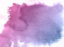 Pinkand kwiatu akwareli tekstury błękitny tło, piękna kreatywnie planeta ilustracja wektor