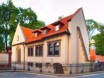 Pinkas犹太教堂在布拉格,捷克犹太镇  免版税库存照片