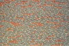 Pinkas synagogi ściany pomnik holokaust ofiary zdjęcia royalty free
