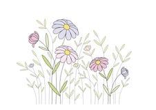 Pinke-Wildflowers stock abbildung