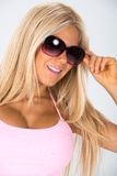 Pinked tank top themed shoot. Stock Images