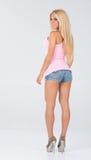 Pinked tank top themed shoot. Stock Photos