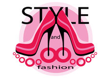 pinken shoes två stock illustrationer