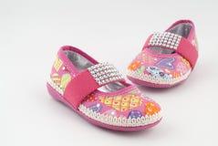 pinken shoes två arkivfoto