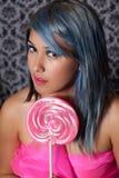 Pinkfarbene Schönheit Stockfoto