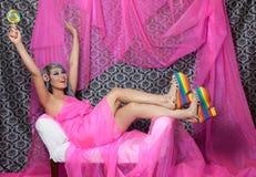 Pinkfarbene Schönheit Stockbild