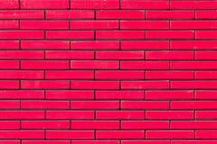 Pinkfarbener Backsteinmauerhintergrund Lizenzfreies Stockbild